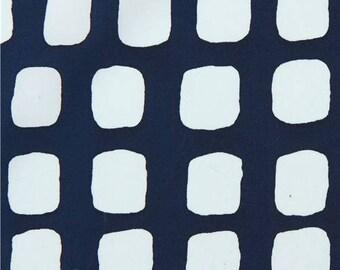 219019 navy blue Robert Kaufman fabric rectangle shape Mark to Make