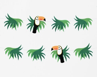 Toucan Paper Garland Bunting 3m Tropical Party