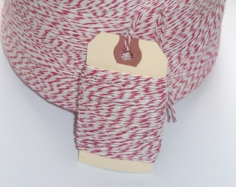 Peppermint Red and White Bakers Twine 50 Yards