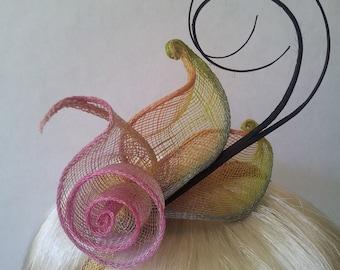 Titania pink small fascinator