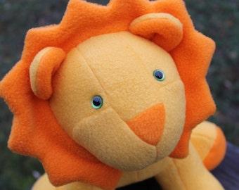Sunny Yellow Stuffed Lion
