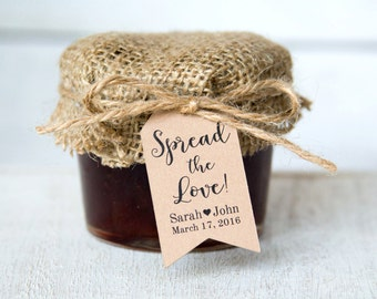 Spread the Love Tag - Jam Wedding Favor - Honey Wedding Favor - Spread Wedding Favor - Wedding Favor Ideas - Custom Tags - LARGE