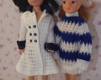 Vintage Predigree Sindy Clothes. 1980's Sindy Doll Coats. Sindy Doll Dress.NO DOLLS.