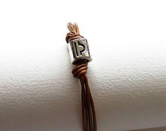 Bracelet leather leather 17486