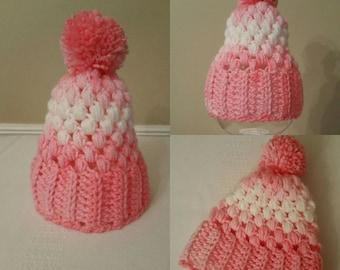 Neugeborenen-Hut, Hut häkeln, Wintermütze Baby, Baby Mädchen Hut