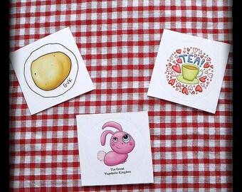 GVK Round Stickers
