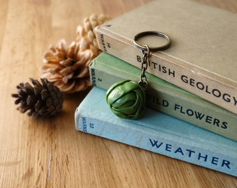By the Shed Brussels Sprout Cabbage Keyring Key Chain - Green Keys - Vegetable Allotment, Gardening - Vegetarian Gift - Xmas Christmas Lunch