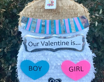 Gender Reveal Baby Bottle Pinata Valentine's Day Gender Reveal