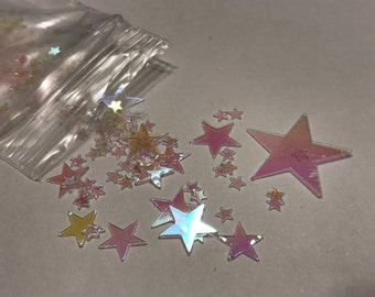 about 100 piece star confetti / sequins mix, 2-20 mm (37)