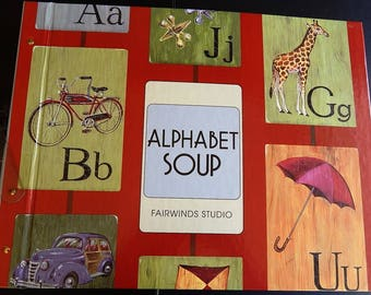 Alphabet Soup Kids Wallpaper Sample Book Paper Crafts Scrapbooking