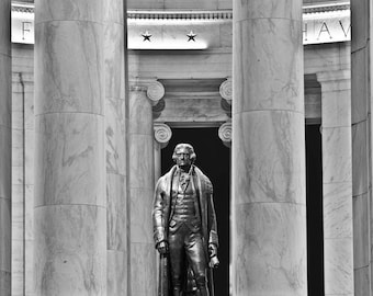 Washington DC Art, Jefferson Memorial, Fine Art Black and White Photography, Washington DC Photography, Washignton dc  skyline