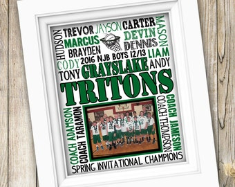 Basketball Coach Gift Basketball Team Gift Basketball Gifts Personalized Basketball Boys Basketball Team Printable Basketball Subway Art
