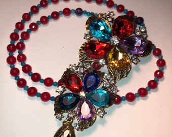 Colorful Rhinestone pendant