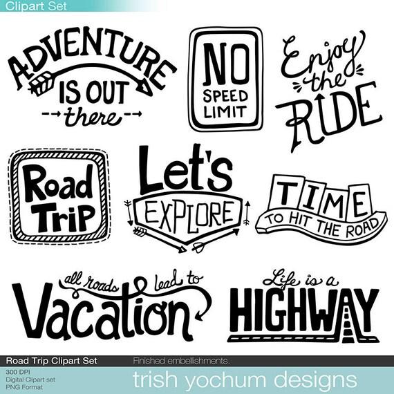 road trip clipart digital adventure outdoor vacation rh etsy com cartoon road trip clipart summer road trip clipart