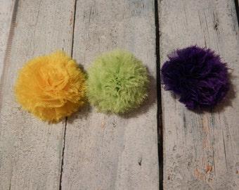 yellow Chiffon Pom Pom- Emery style*