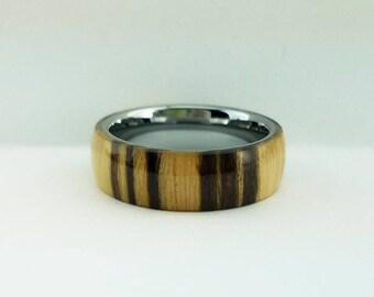 Mens Wood Wedding Band, Natural Wood Ring, Bentwood Ring, Wood Wedding Ring, Mens Ring, Bentwood Tungsten Ring, Mens Wood Ring