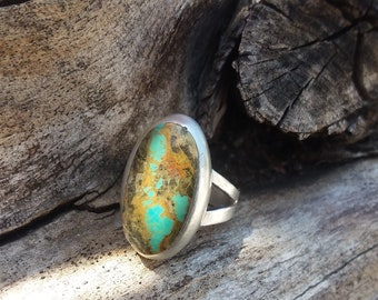 Turquoise Ring Size7.5~Sterling Silver sale~Fashion Rings