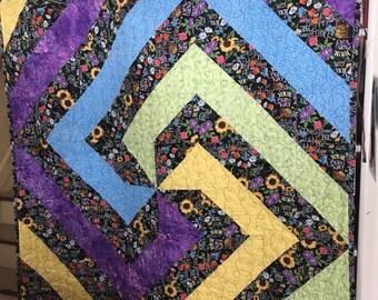 Handmade Adult Quilt, Handmade Gift, Handmade Blanket, Adult blanket, Adult gift, Lap Quilt, Lap Blanket, Quilt