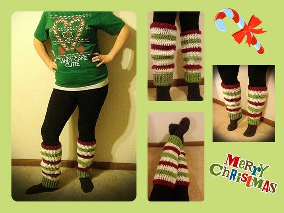 Christmas Leg Warmers Adult Women Baby Girls Toddler, Mommy and Me Matching Christmas Outfit, Family Christmas Pajamas, Photo Props