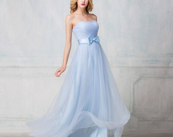 Selena Huan Sweetheart strapless full-length tulle bridesmaid dress; Corset/Zip - New Sample, 25% OFF