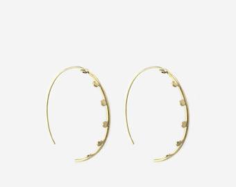 14kt large statement hoop earrings