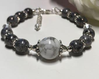 White marble stone bracelet
