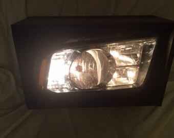 Custom Headlight Lamp Light Man Cave Home Decor Garage Decor