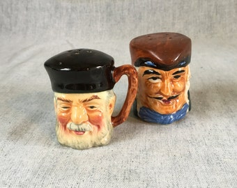 Vintage Toby Head Salt and Pepper Shakers, Made in Japan