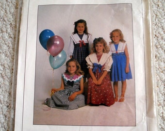 Child's Vintage Style Dress Pattern  - Sizes 3 to 14 Uncut - Claire - by Kay Guiles Designs with Smocking Option