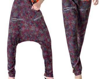 Harem pants for women wool Jersey (M128)