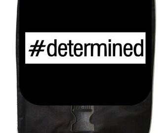 Determined - Large Black School Backpack