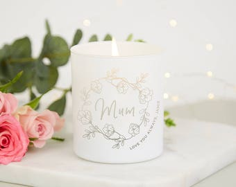 Mother's Day Gift Floral Natural Candle