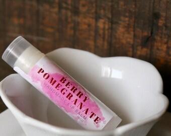 Berry Pomegranate Lip Balm, Handmade in Alaska, Lip Gloss, Chapstick, Lip Butter, Lip Moisturizer, Gift for Her, Gift for Mom, Valentine's D