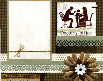 Doctor's Office - 12x12 Premade Scrapbook Page