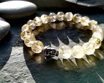 Citrine bracelet ,  Buddha bracelet