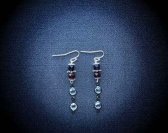 Glass Bead Drop Earrings