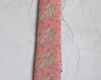 Liberty print tie - pink floral tie - pink wedding tie - pink tie - Liberty tie - Liberty Capel