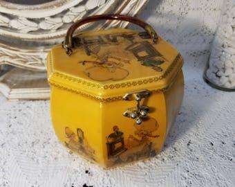 Holly Hobbie wooden box purse