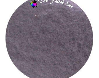 Needle Felting Maori Wool Batt / FB50 London Fog Maori Wool Fluffy Batt