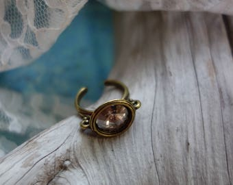 Vintage Rose Swarovski Crystal Ring