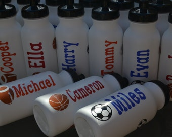 Set of 20 Personalized Kid's Sports Water Bottle