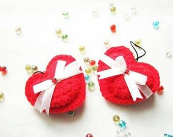 Amigurmi heart keychain / crochet heart / heart charms