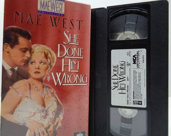She Done Him Wrong VHS Tape