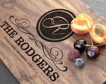 Personalized Cutting Board - Engraved Cutting Board, Custom Cutting Board, Wedding Gift, Housewarming Gift, Anniversary Gift, Christmas Gift