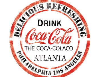 DRINK CocaCola Stencil Template for Crafting Wall graffiti art DIY decor