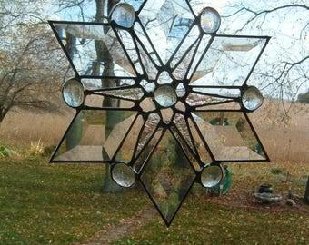 Clear Bevel Snowflake Suncatcher