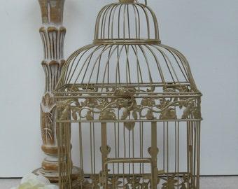 Large Champagne Gold Wedding Birdcage Card Holder | Champagne Gold Birdcage | Champagne Wedding Decor | DIY Wedding Birdcage