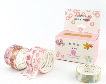 Watercolor Flowers Washi Tape Masking Tape Planner Stickers Scrapbooking Stickers