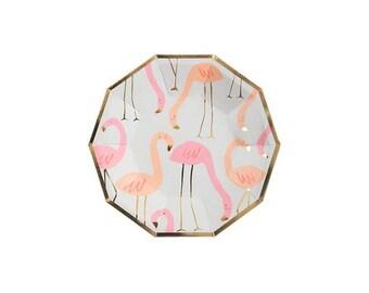 Flamingo Pattern Paper Plate, Small, Meri Meri Party Decor, Party Supplies, Summer, Beach, Party Theme