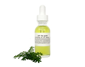 Vegan Beard & Cuticle Oil - Conditioning - 25 ml / 1 oz  in glass bottle with dropper - Two options available